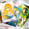 Postkarten Set Löwentochter