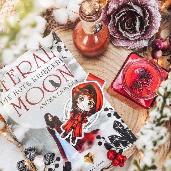 Magnetlesezeichen Feral Moon Scarlet